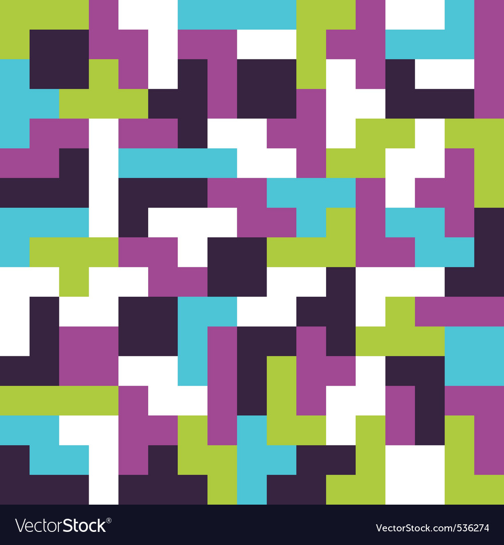 Seamless background tetris game Royalty Vector Image 1000x1080