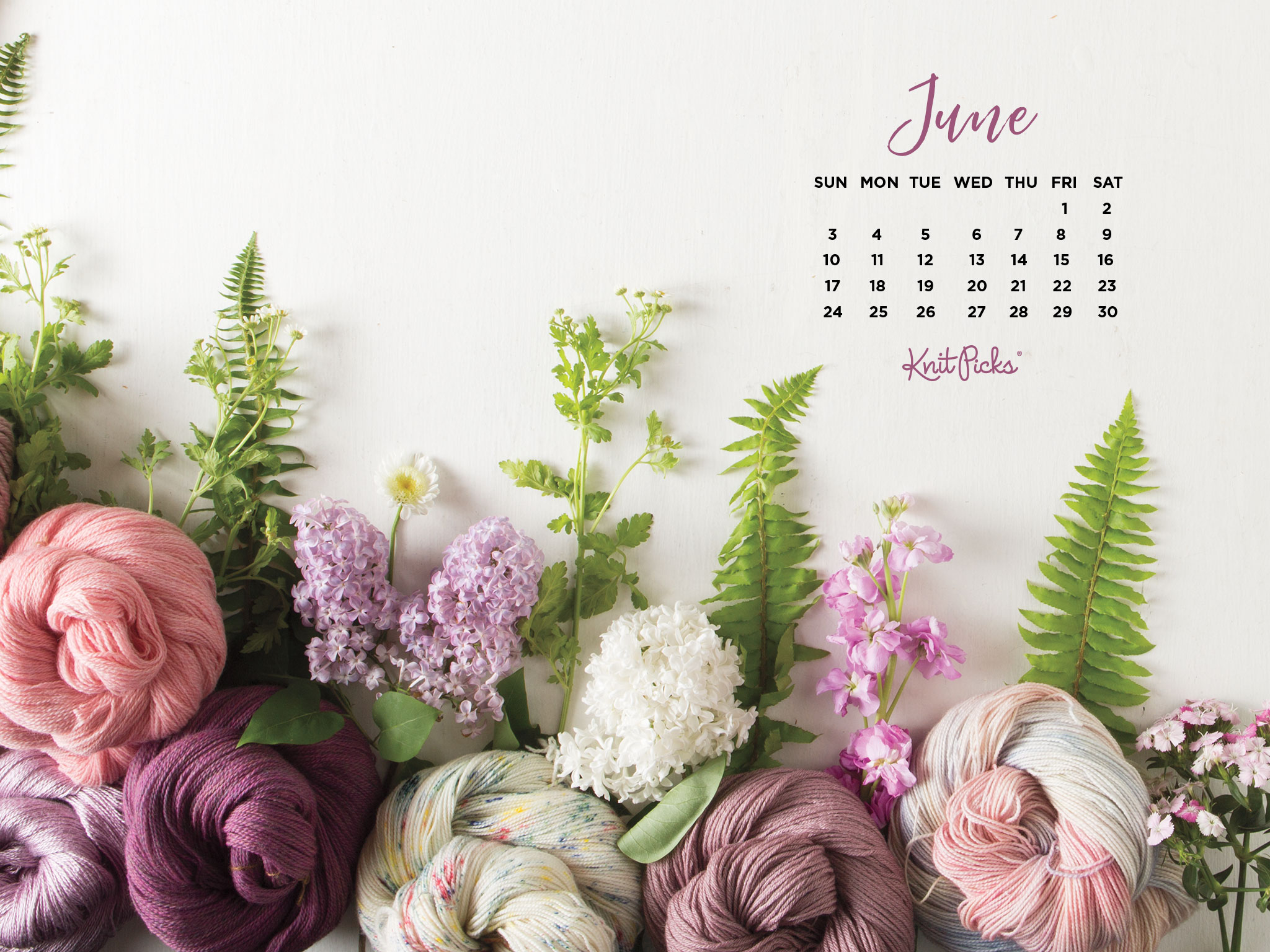 Downloadable June 2018 Calendar   KnitPicks Staff Knitting Blog 2048x1536
