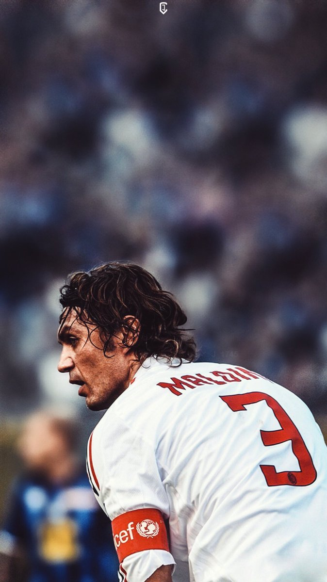 JDesign on Twitter AC Milan Paolo Maldini Wallpaper 674x1199