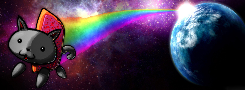 Nyan Cat 2 Facebook Profile Timeline Cover Ultimate Collection Of Top 850x313