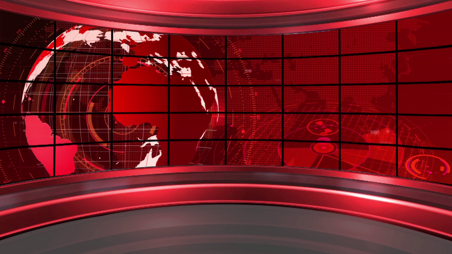 News 19 Broadcast Tv Studio Green Screen Background Loopable 1920x1080