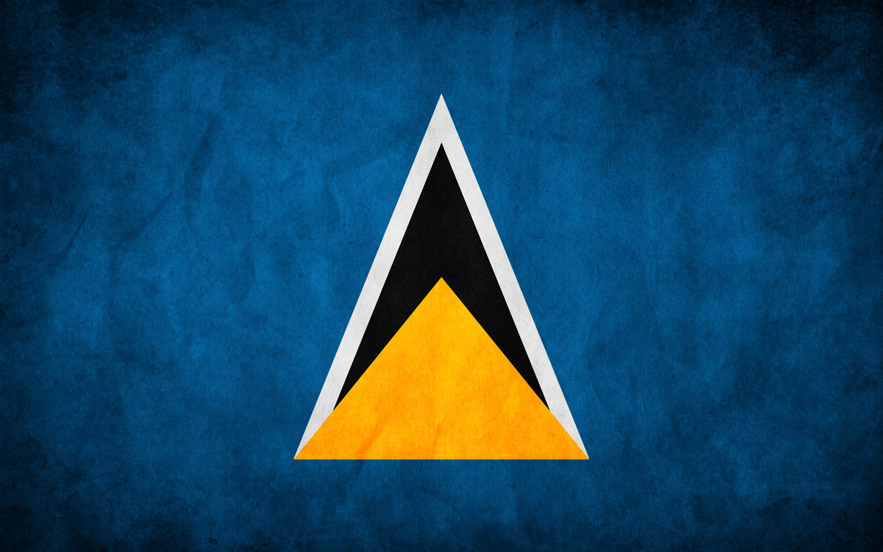 Saint Lucia Grunge Flag by think0 1280x800