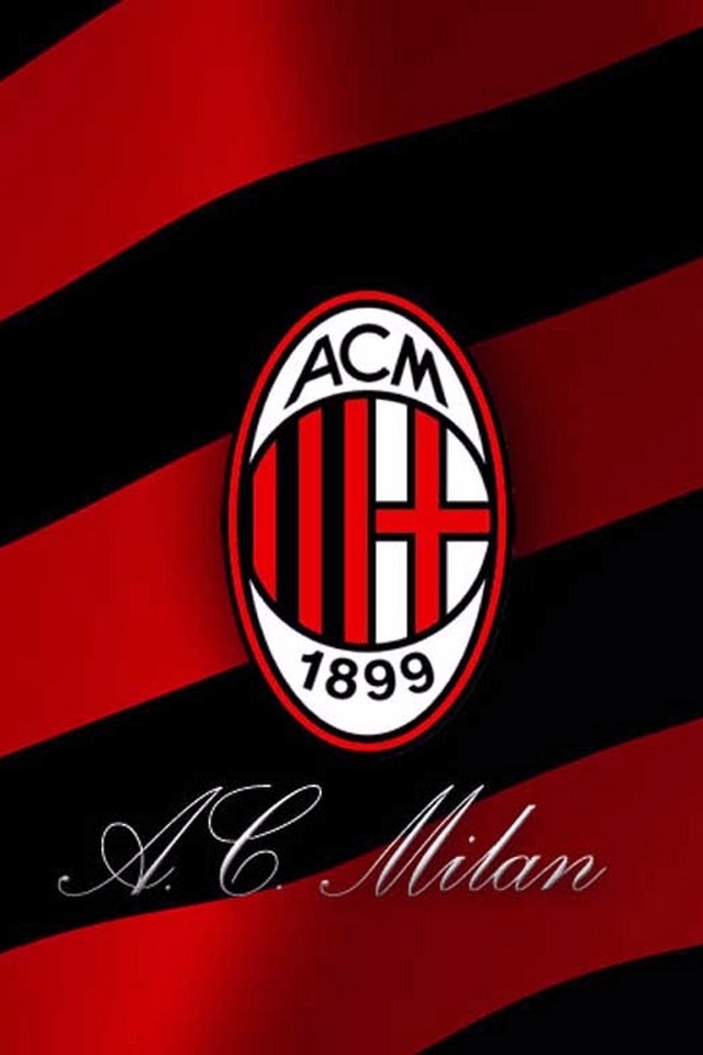 AC Milan   Download iPhoneiPod TouchAndroid Wallpapers Backgrounds 640x960