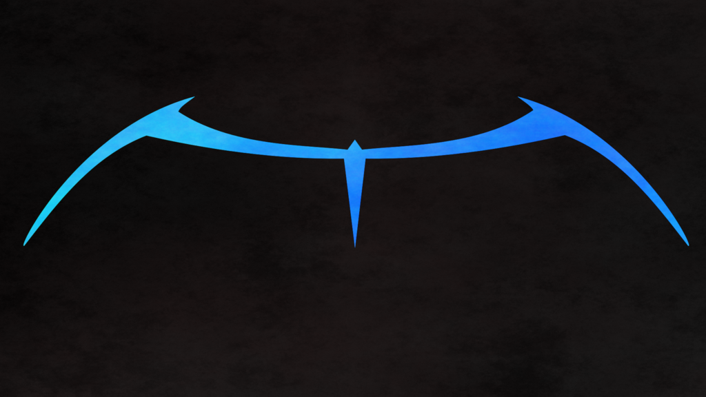 Nightwing Logo Wallpaper Hd Nightwing classic blue wall v1 1024x576