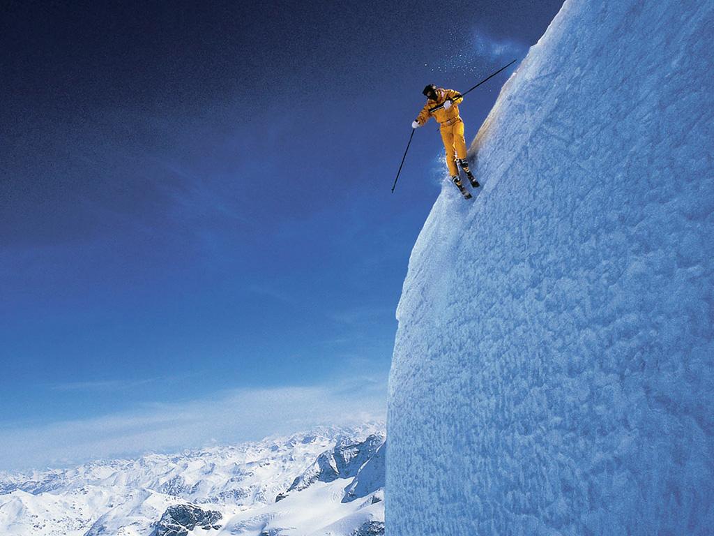 Extreme Skiing Wallpaper: Ski Slope Wallpaper