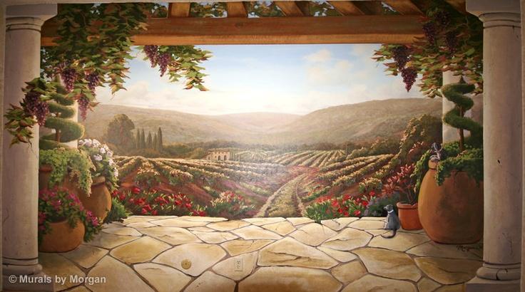 Tucan Vineyard Mural Decor Pinterest 736x410