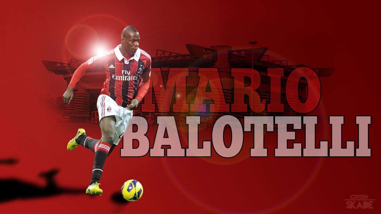 Mario Balotelli Ac Milan Wallpapers Download HD 1280x720