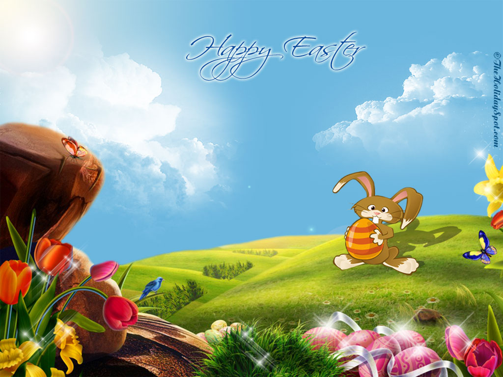 Easter Bunny Wallpaper 1024x768