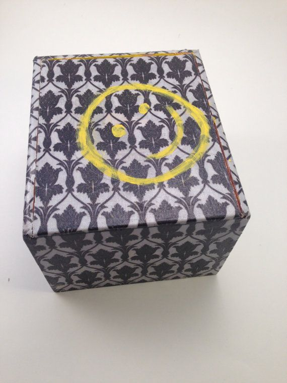 Sherlock Wallpaper UpCycled Cigar Box Treasure Chest by Lelujools 20 570x760
