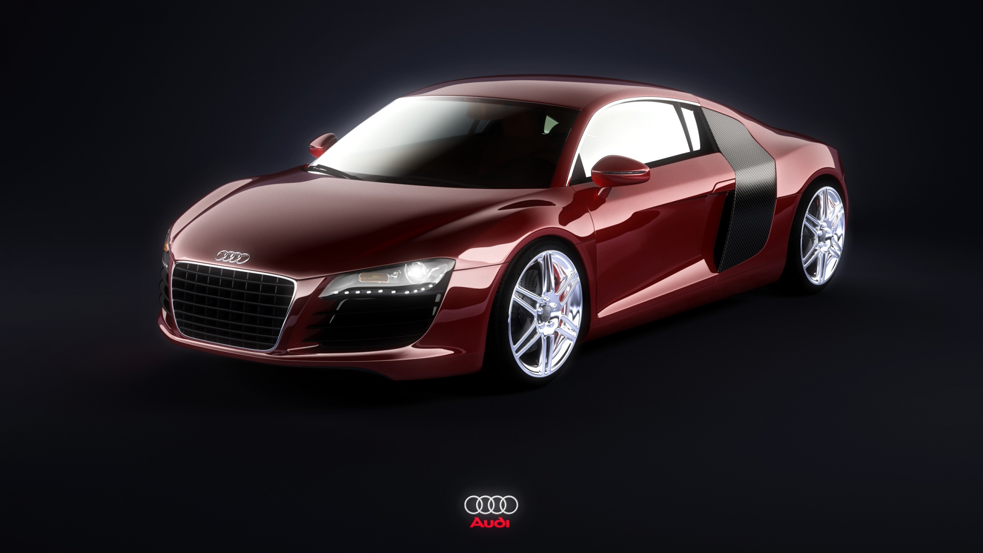 Audi R8 Burgundy   High Definition Wallpapers   HD wallpapers 1920x1080