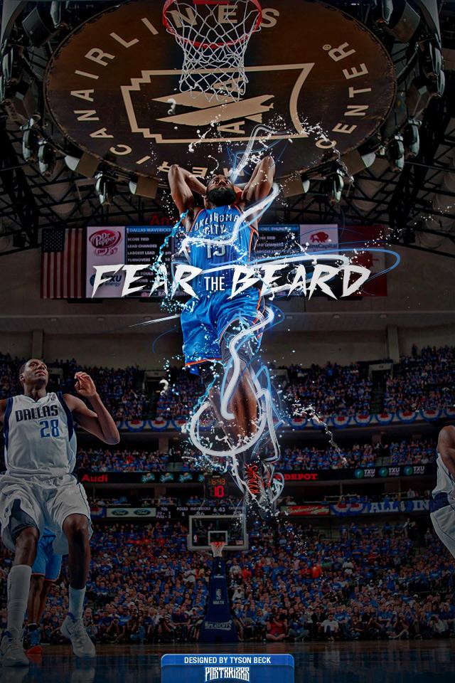 James Harden FEAR THE BEARD Wallpaper 640x960