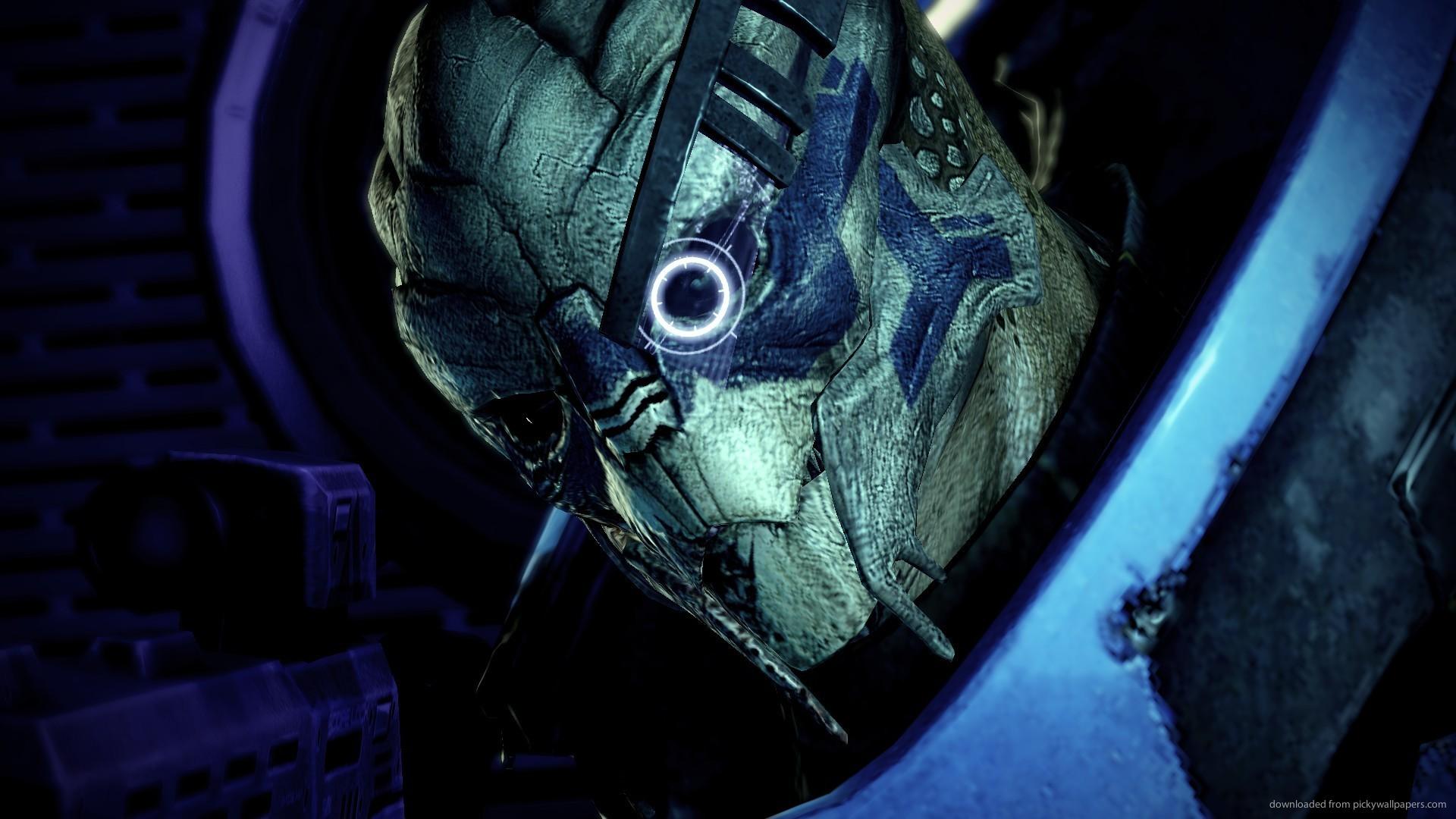 Download 1920x1080 Mass Effect Garrus Portrait Wallpaper 1920x1080