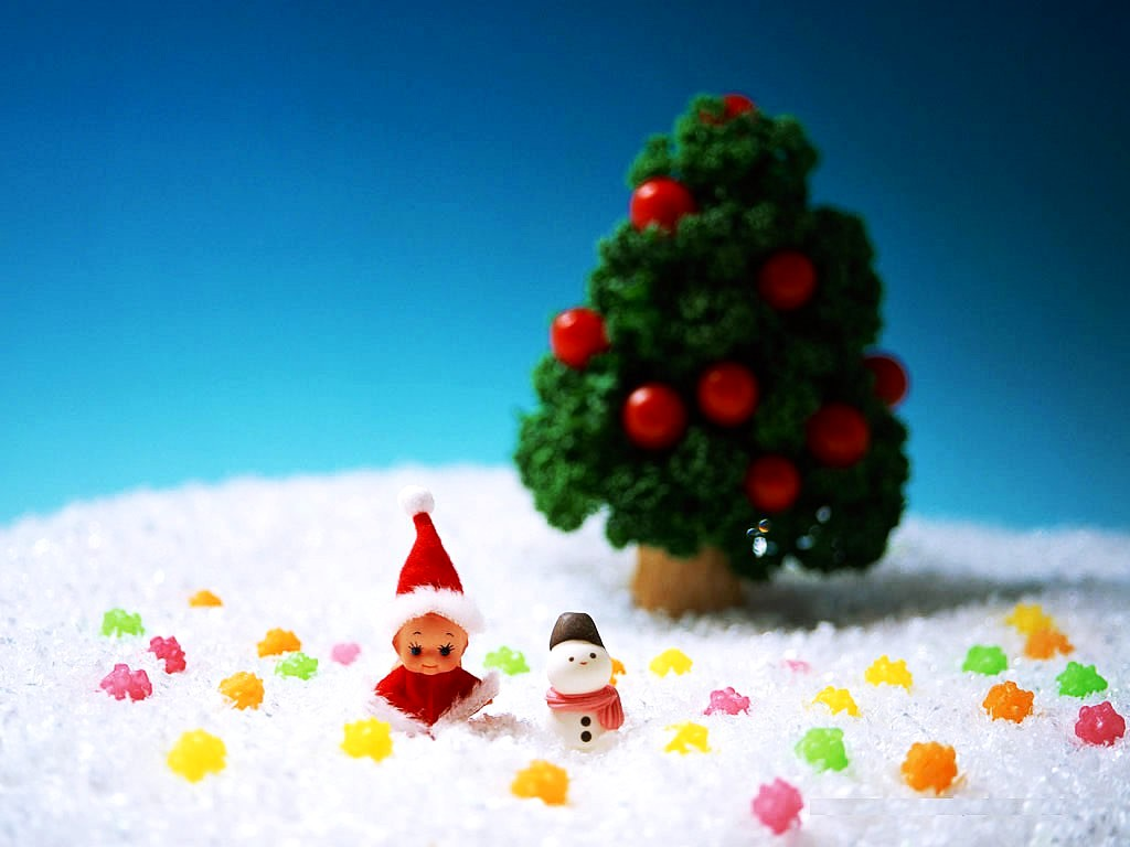 3D Animated Christmas Wallpapers Cute Christmas Toy photos 3D Animated 1024x768