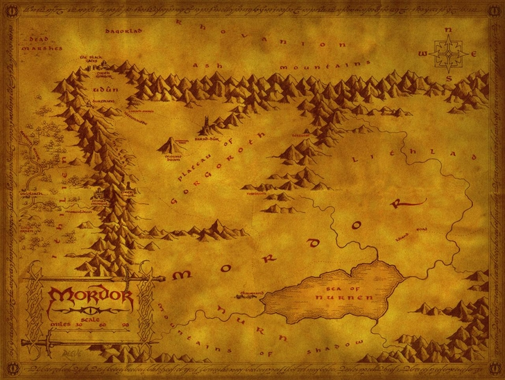 lord of the rings maps mordor plains 1280x964 wallpaper Movie The Lord 728x548