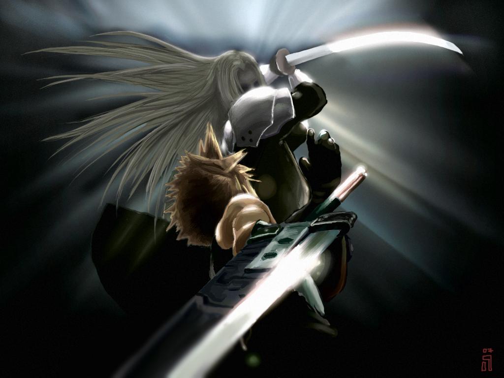 Free Download Cloud V Sephiroth Cloud Strife Wallpaper