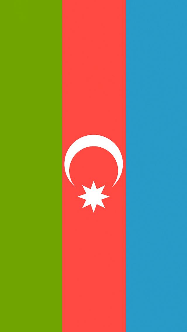 Azerbaijan Flag iPhone Wallpaper HD 640x1136