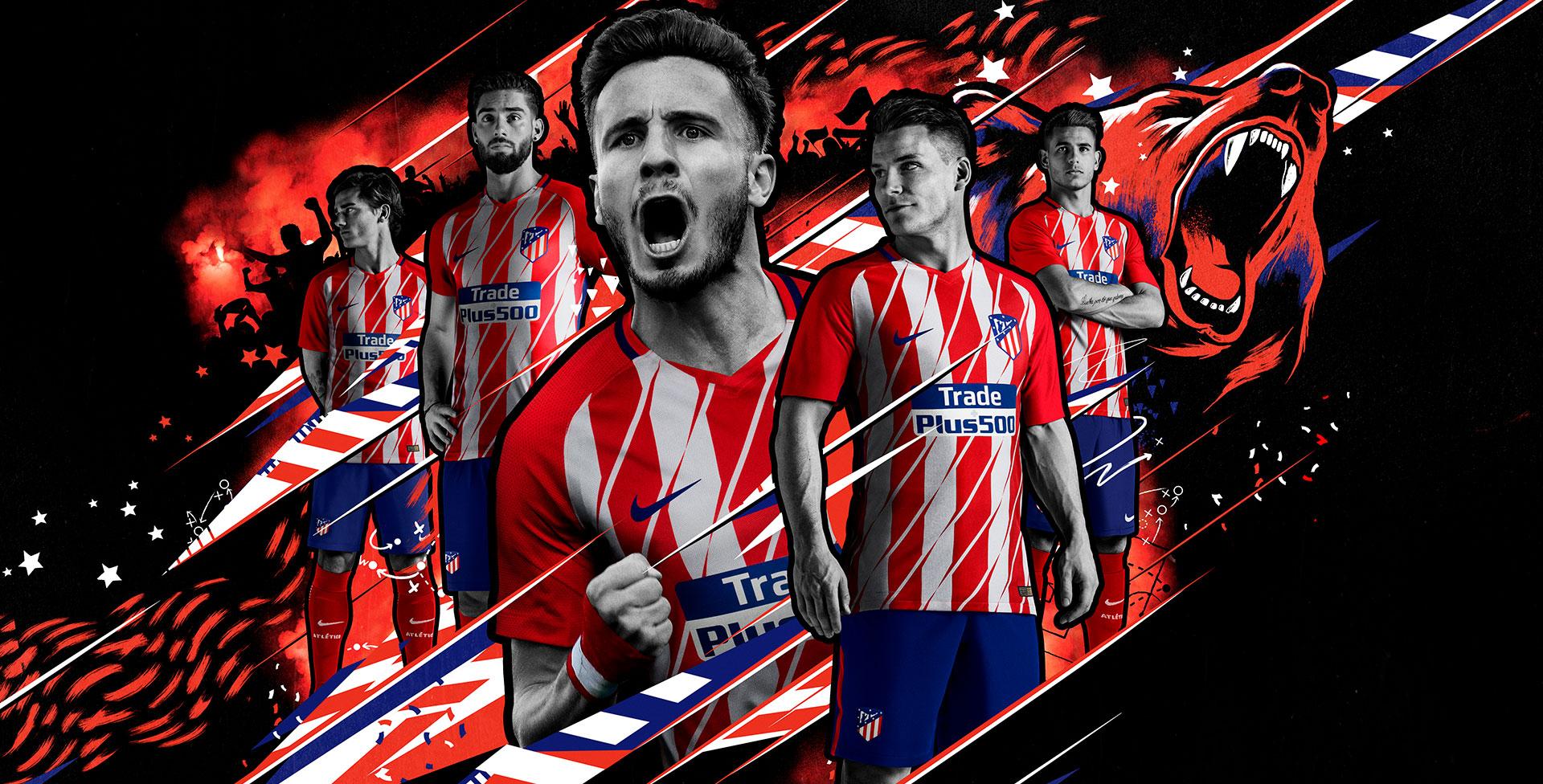 Atletico Madrid 1718 Nike Home Kit 1718 Kits 1920x976