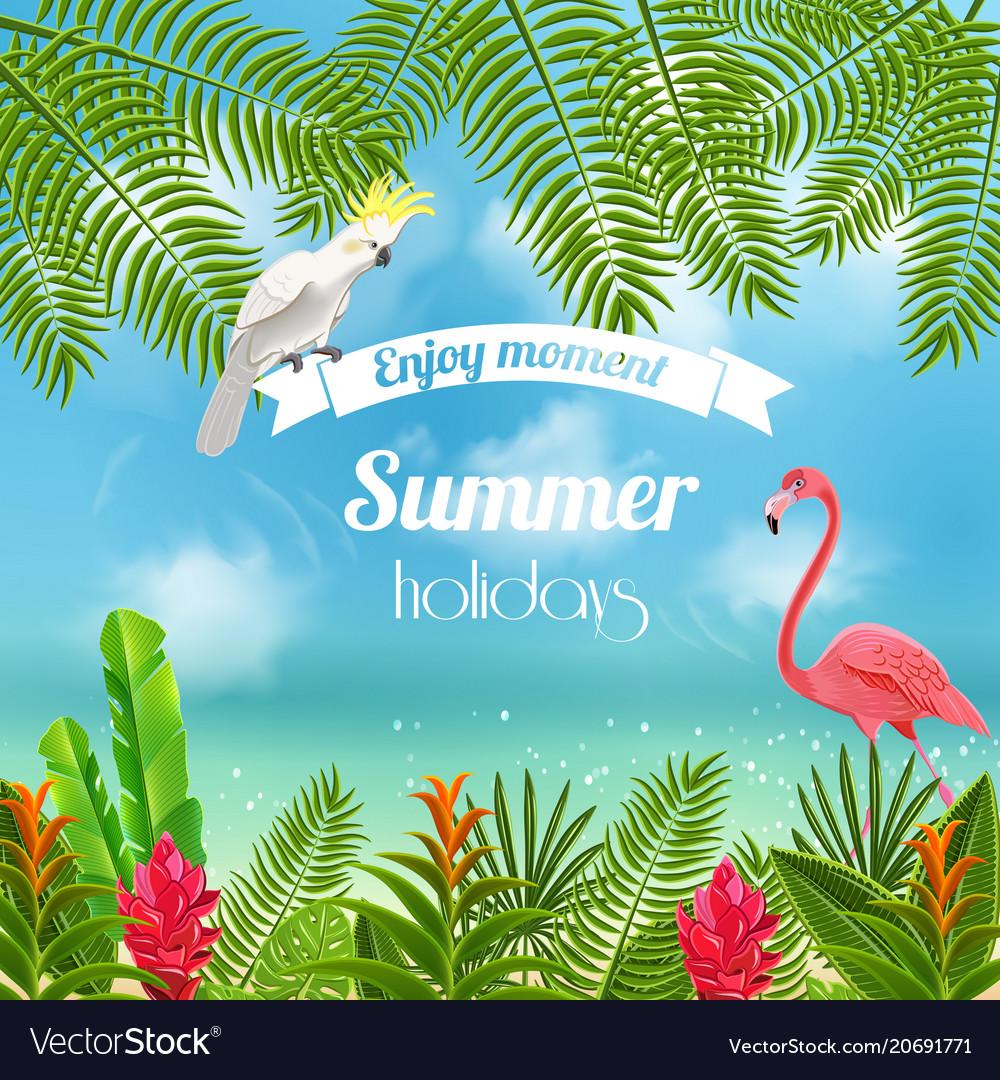Enjoy tropical summer background Royalty Vector Image 1000x1080