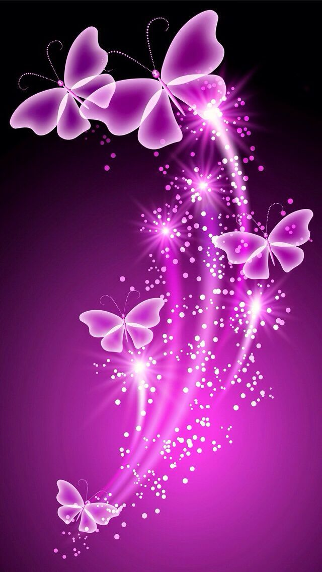 PINK BUTTERFLIES IPHONE WALLPAPER BACKGROUND butterflies 640x1136