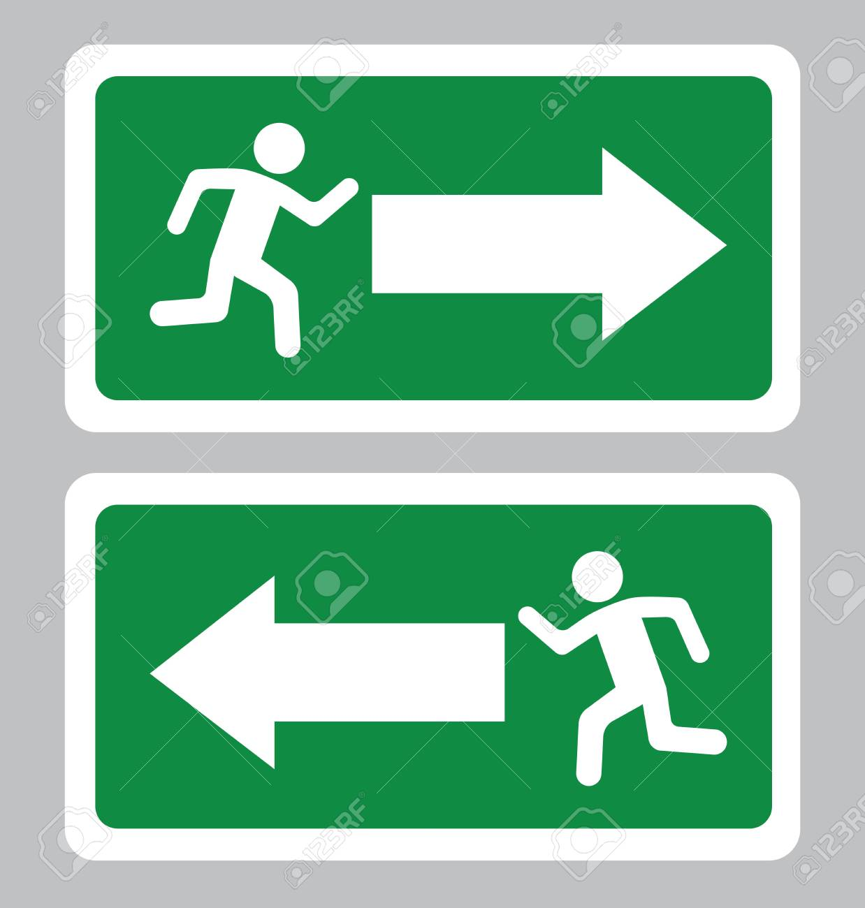 Emergency Exit SymbolExit Board In Green Background Drawing 1238x1300