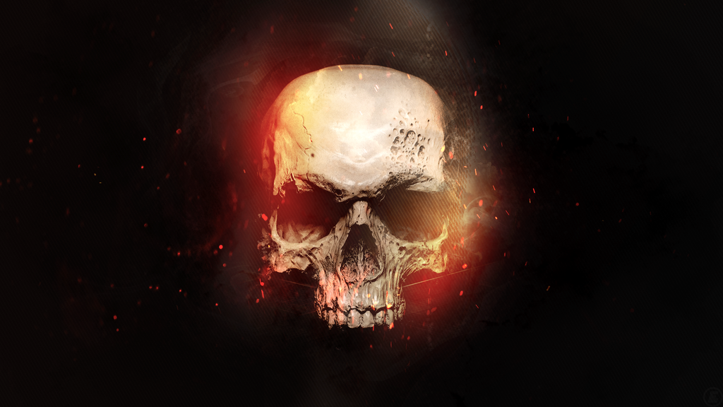 skull in flames wallpaper 1080p by foehngfx customization wallpaper 1024x576