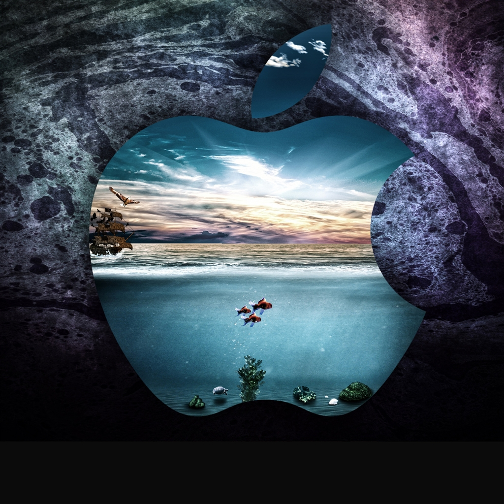 Apple under water iPad Air Wallpaper Download iPhone Wallpapers 1024x1024