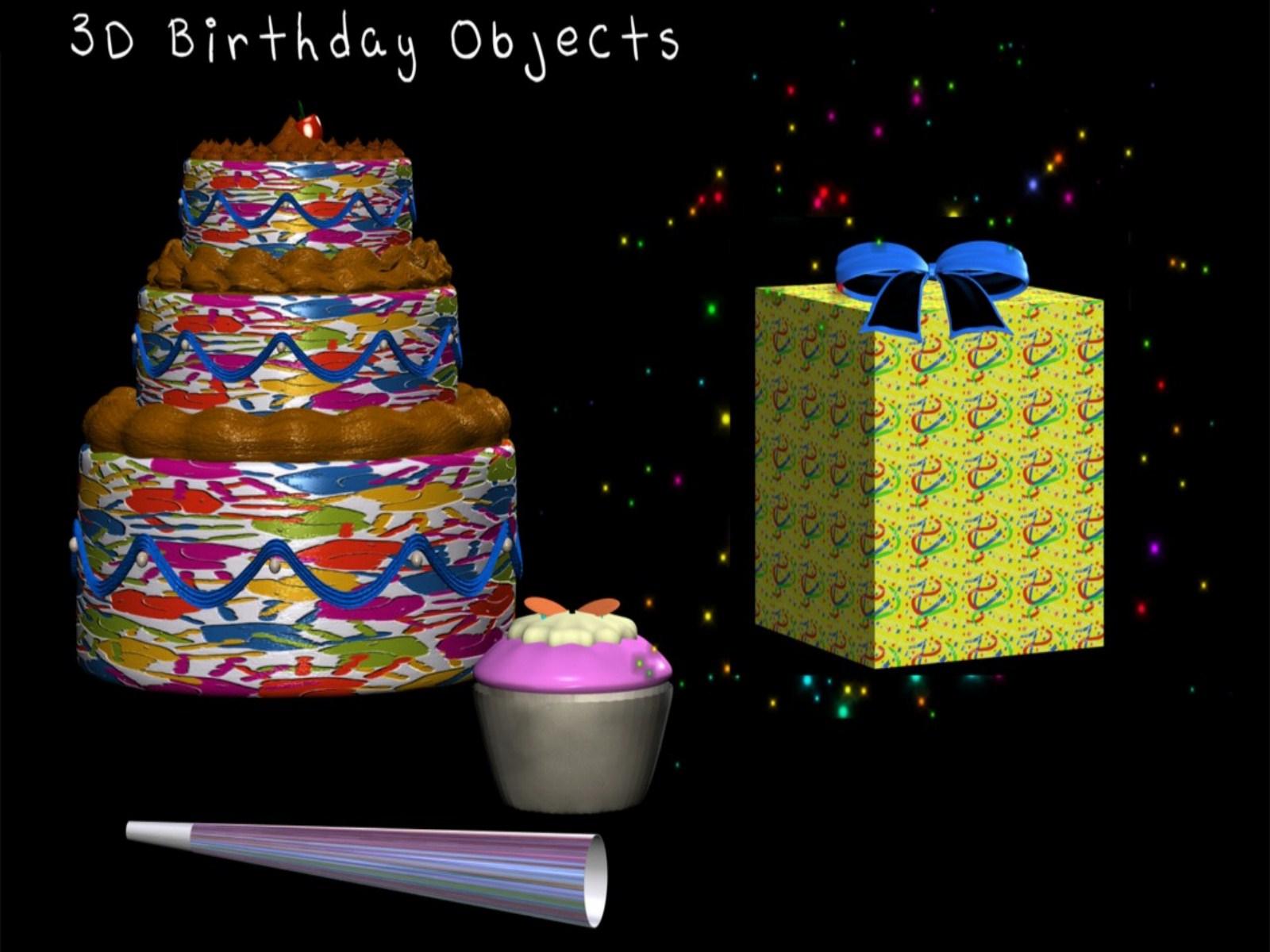 3D Wallpaper Birthday