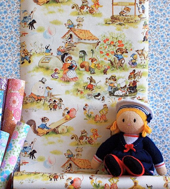 570x633px etsy vintage wallpaper wallpapersafari