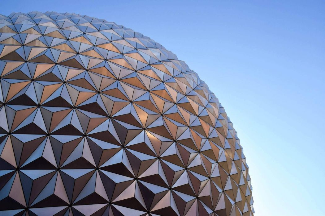 Clear sky architecture geometry Epcot wallpaper 2048x1365 1050x700