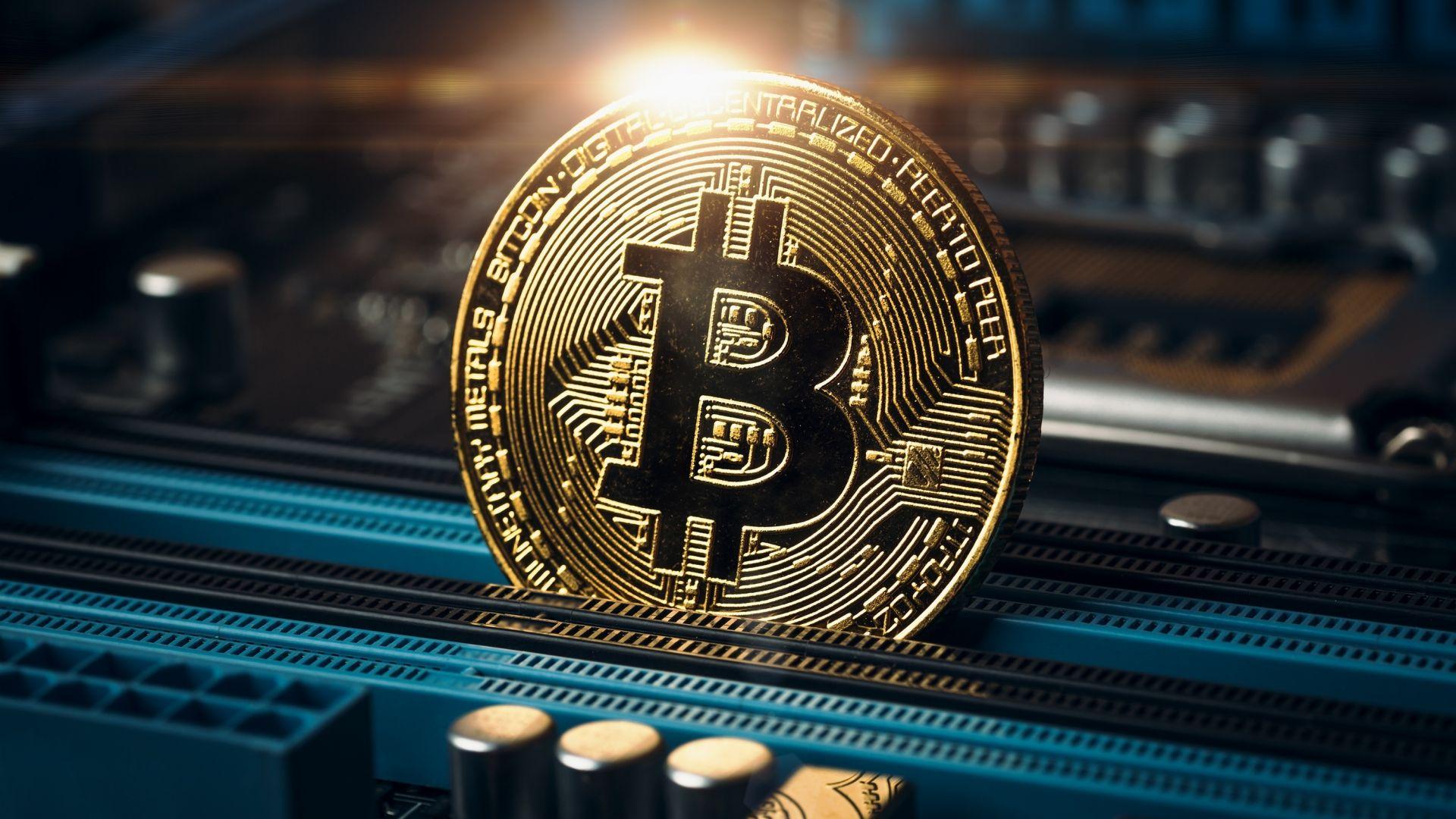Desktop wallpaper coin money bitcoin hd image picture 1920x1080