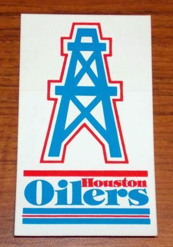 Houston Oilers Decals eBay 351x500