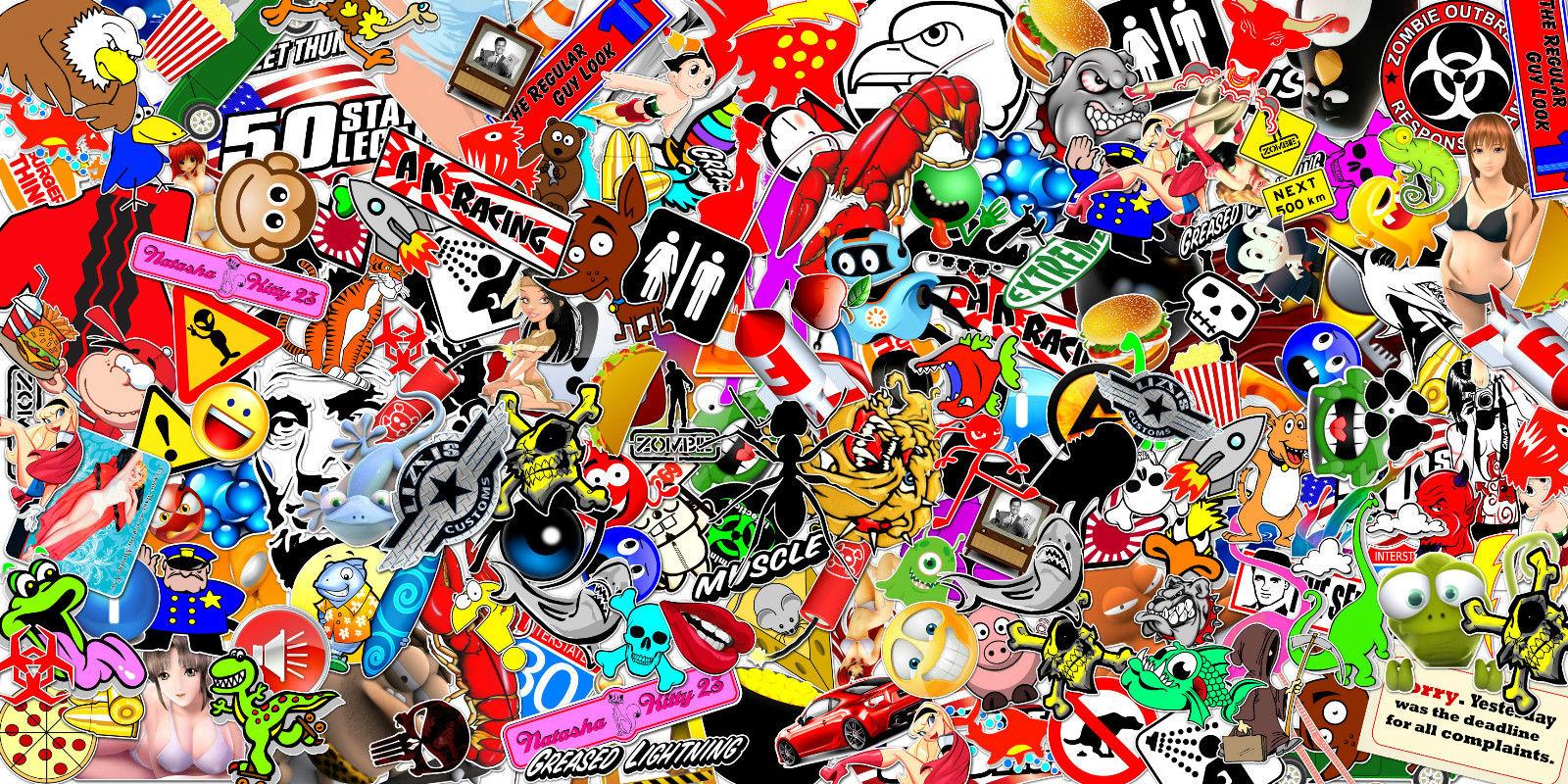 Graffiti Stickers For Walls Jdm Sticker Bomb Wallpaper Wallpapersafari