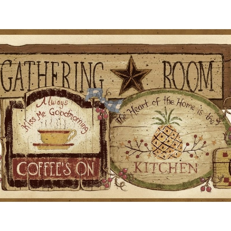 Wallpaper Border Country Gathering Room Signs Border 800x800