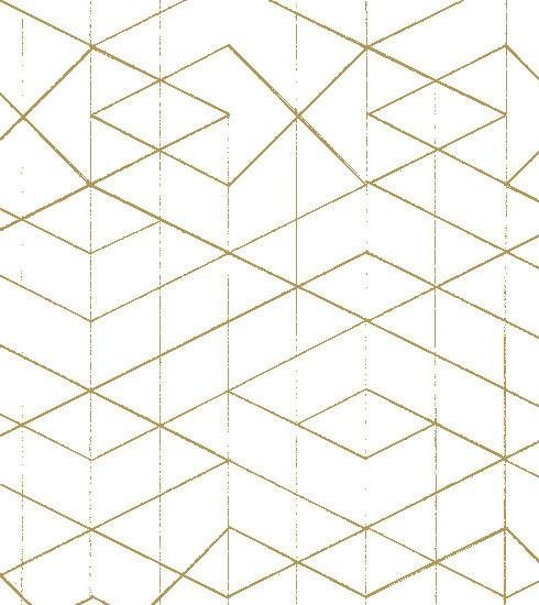 Geometric Wallpaper Gold on White Old New House Wallpaper nh00225 490x550