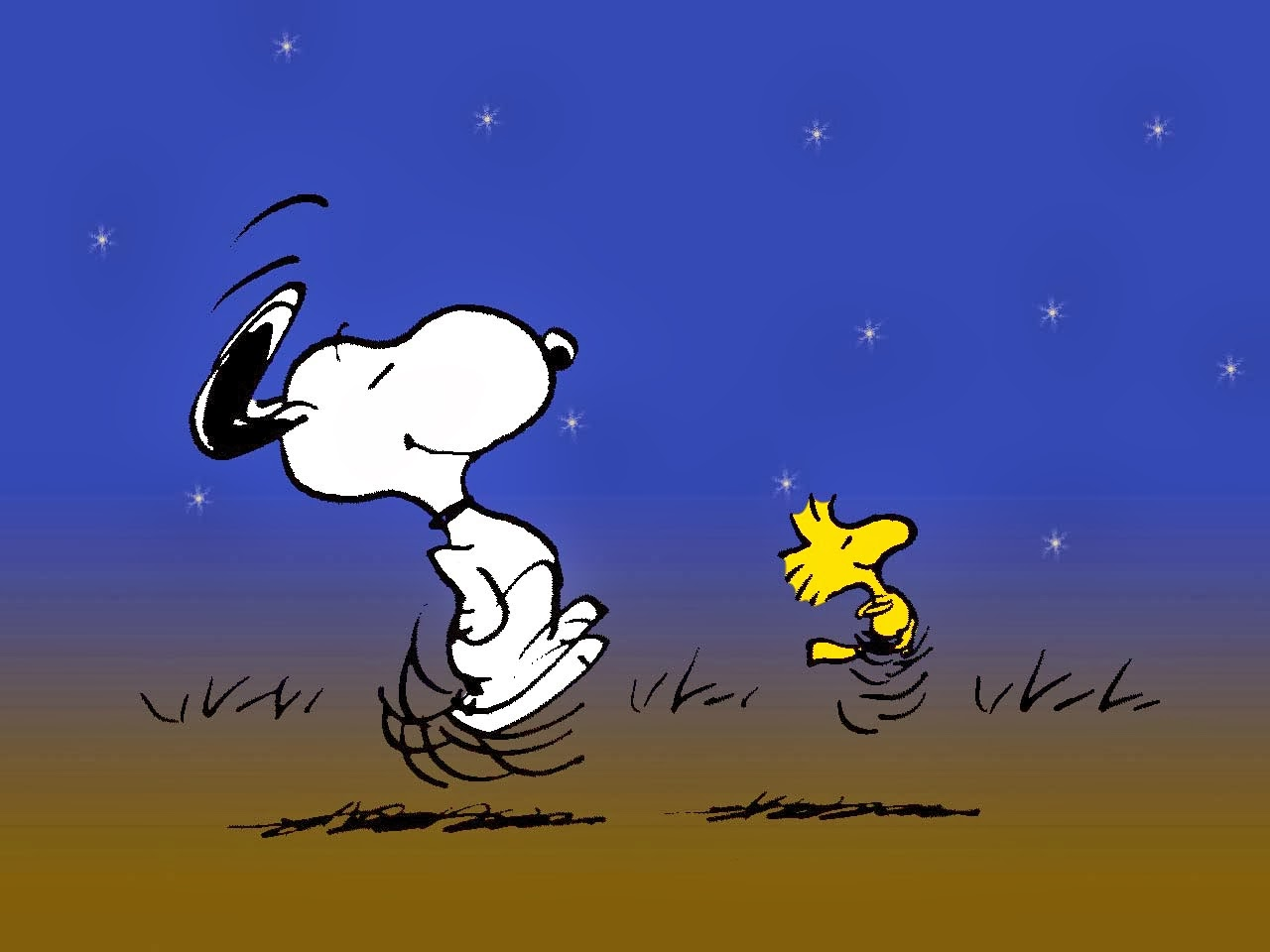 Snoopy and Charlie Brown Wallpaper 1280x960