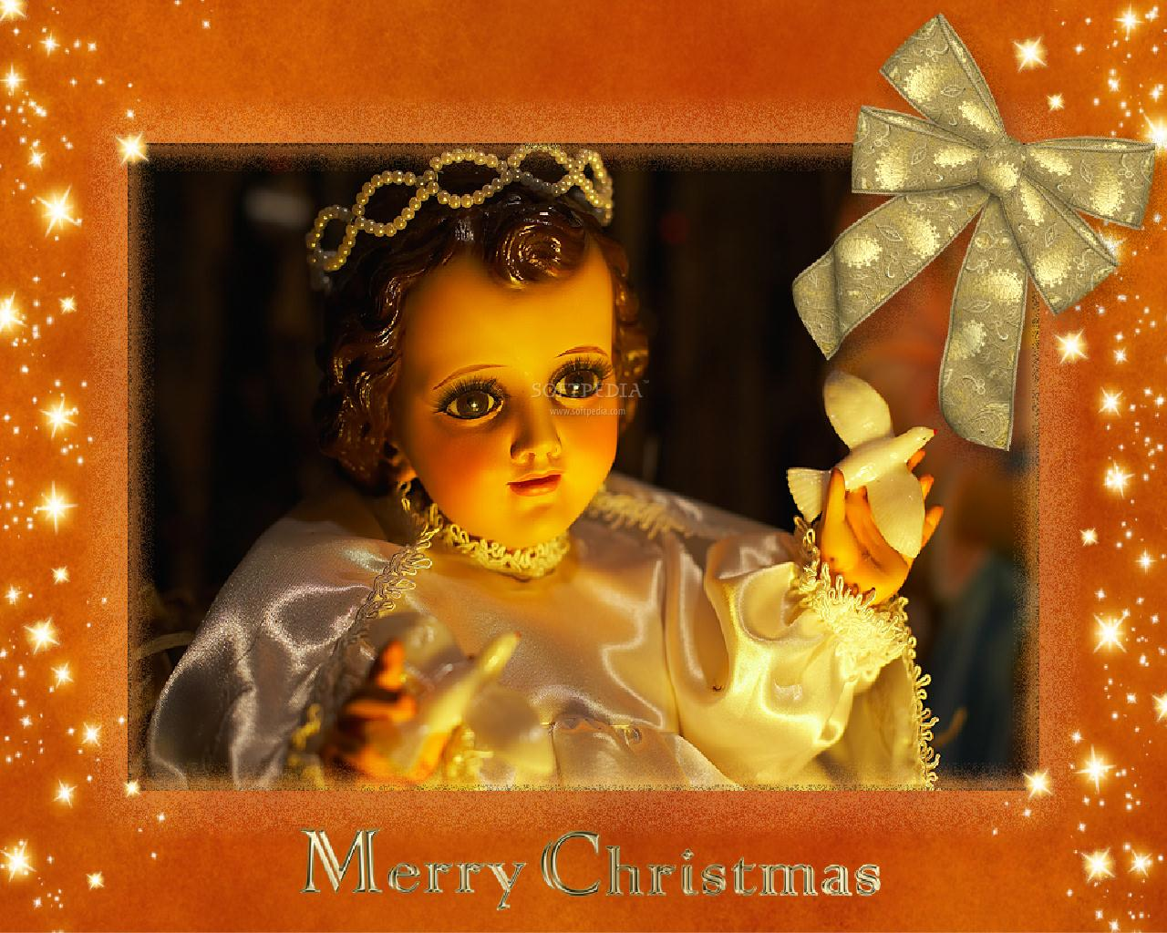 Christmas Angel   Animated Wallpaper   This is the image displayed by 1280x1024