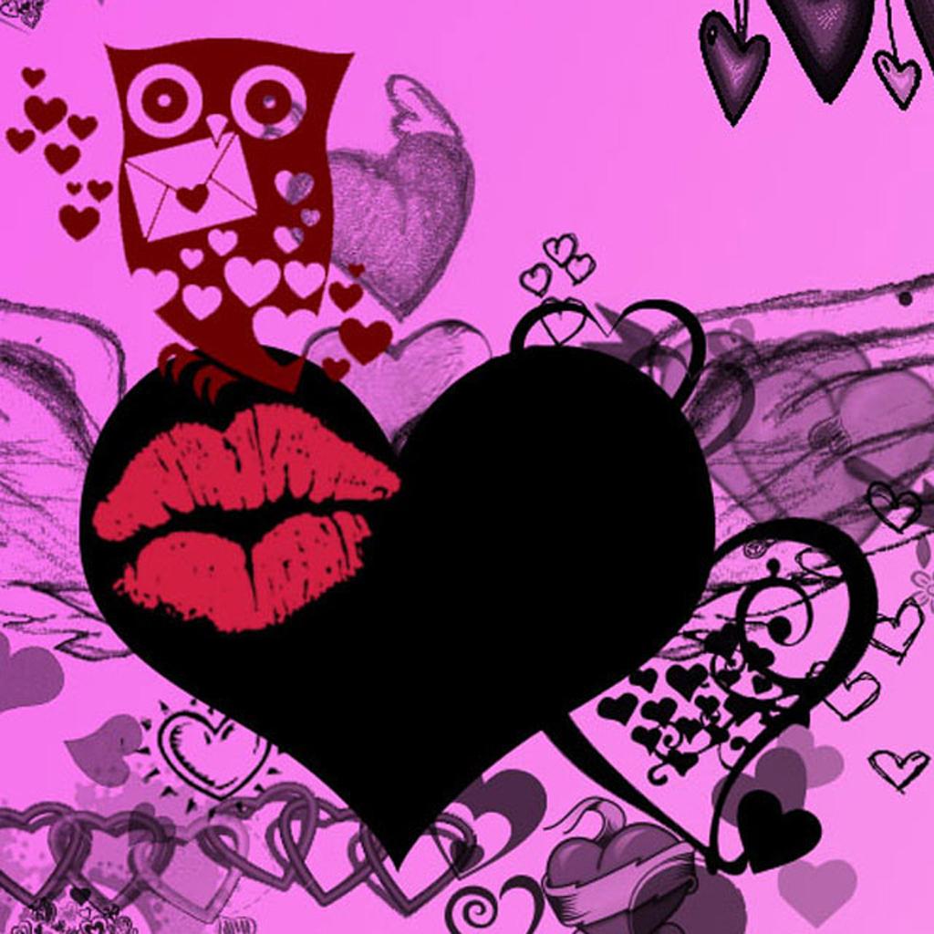 картинки очень красивые воздушный сердечки поцелуи взрослых