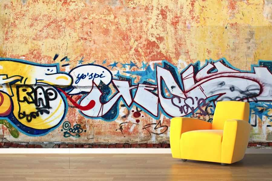 Rustic Wall Graffiti Wallpaper Wall Mural Muralswallpaper 8573 Art 899x599
