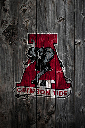 Alabama Crimson Tide Alternate Logo 2 Wood iPhone 4 Background by 333x500