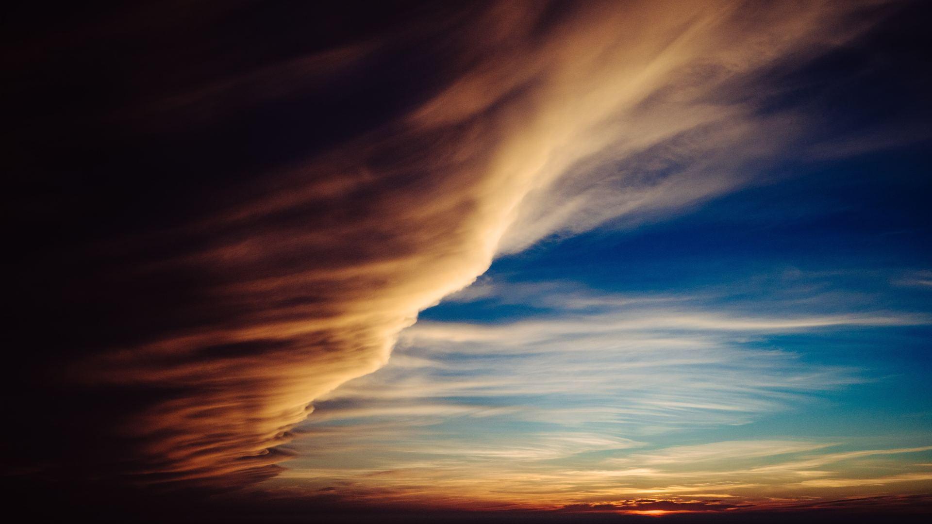 1920x1080 Clouds Like Cyclone 1080P Laptop Full HD Wallpaper HD 1920x1080