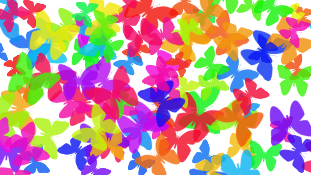 Colorful butterfly background photoshop 1280x720