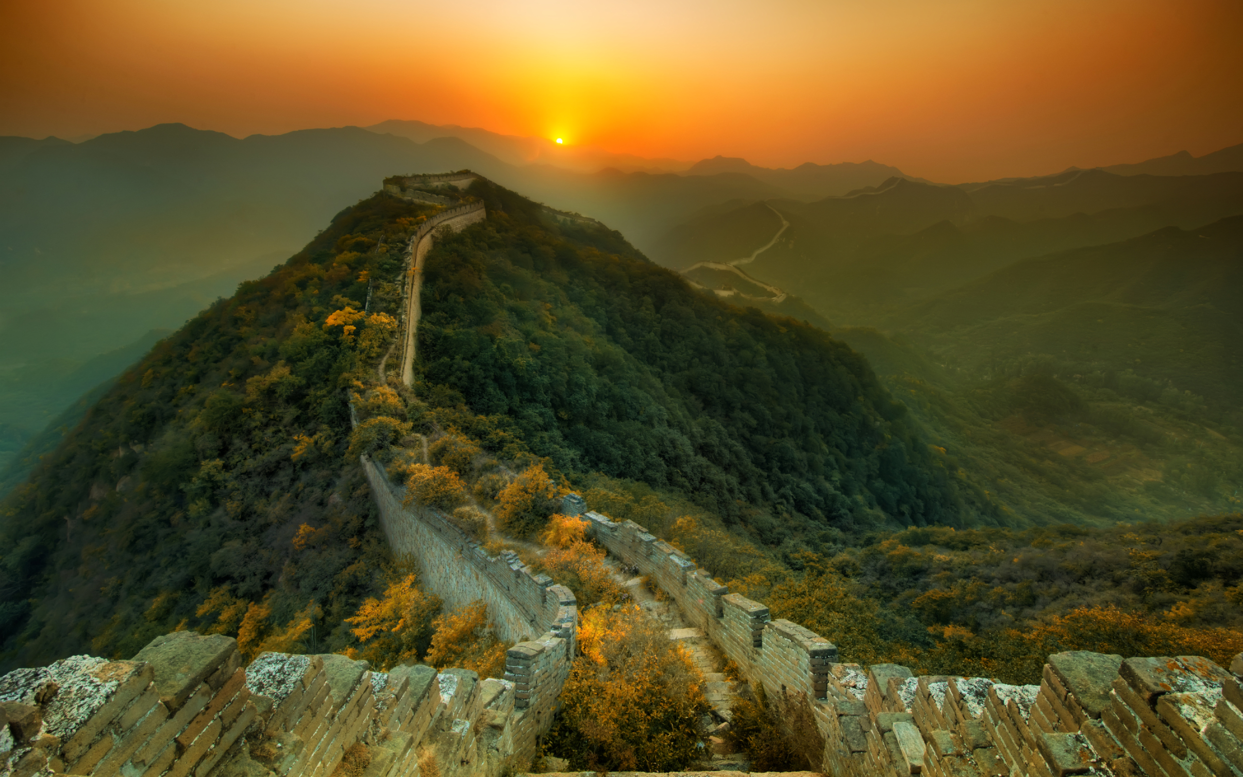 Great Wall of China From Spac HD Wallpaper Background Images 2560x1600