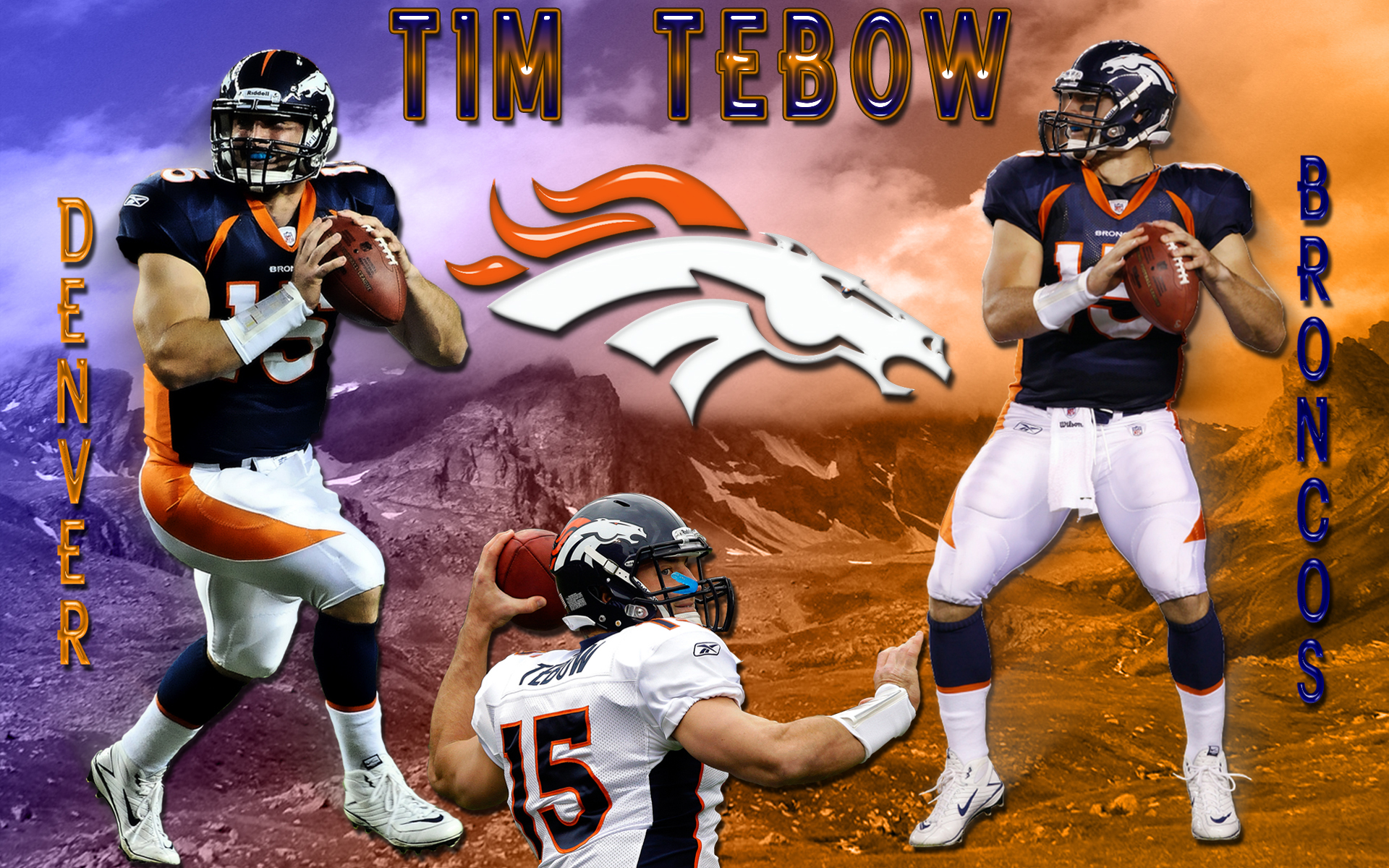 Wallpapers By Wicked Shadows Tim Tebow Denver Broncos Wallpaper 1920x1200