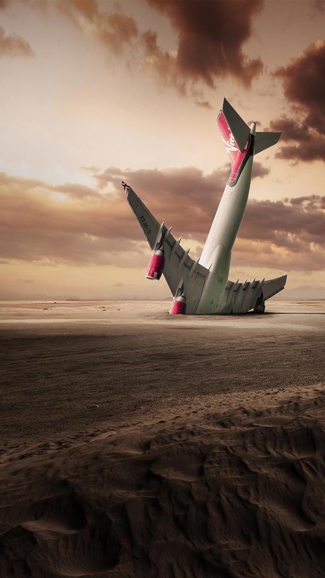 Plane Crash Wallpaper   iPhone Wallpapers 640x1136