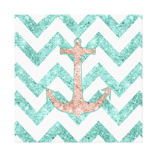 Chevron Anchor Background Coral glitter nautical anchor 512x512
