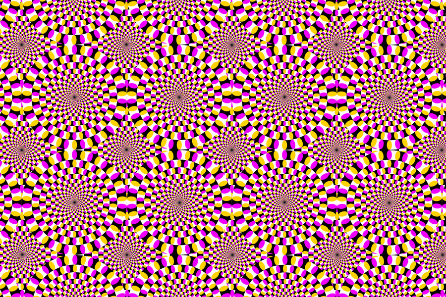 Free Moving Optical Illusion Wallpaper