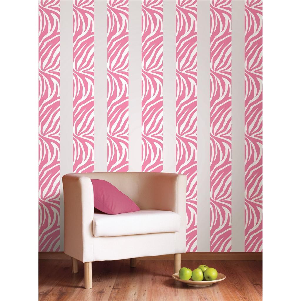 Free Download Pink Zebra Print 16 Removable Vinyl Sticker