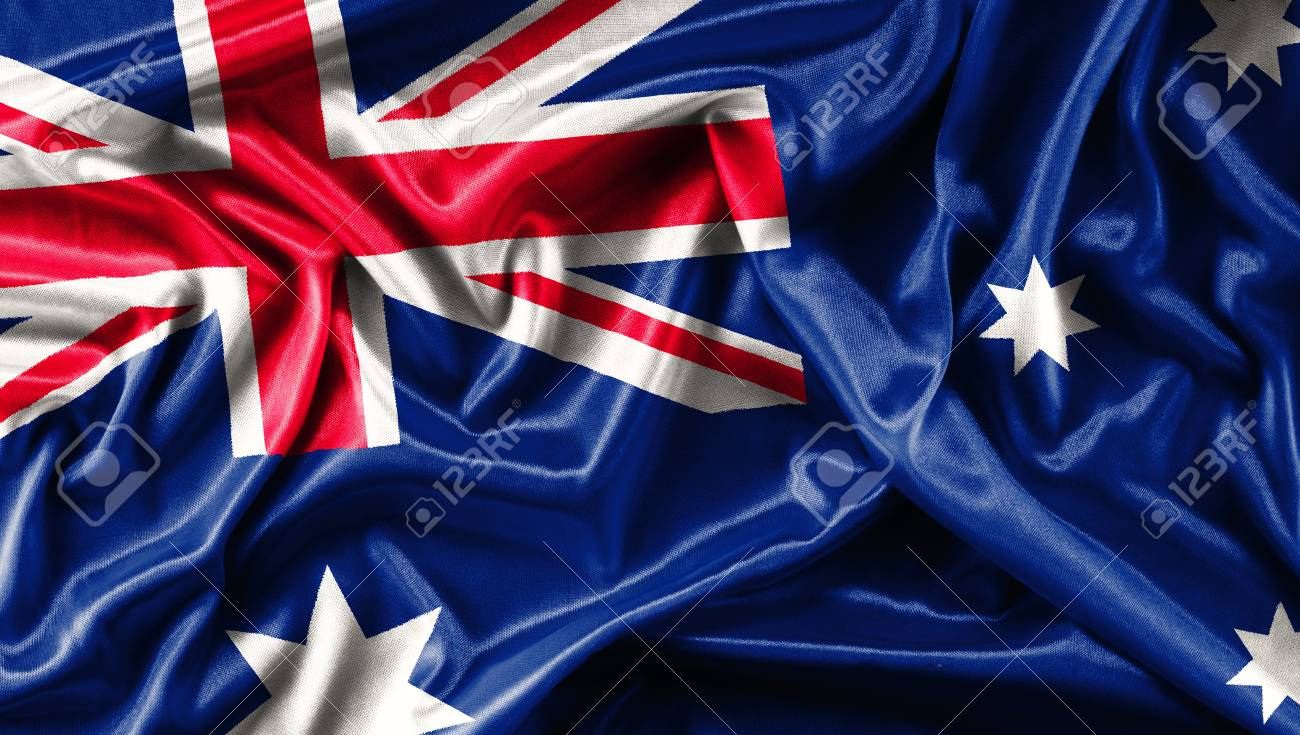 Fabric Texture Of The Flag Of Australia Waving Background 1300x735