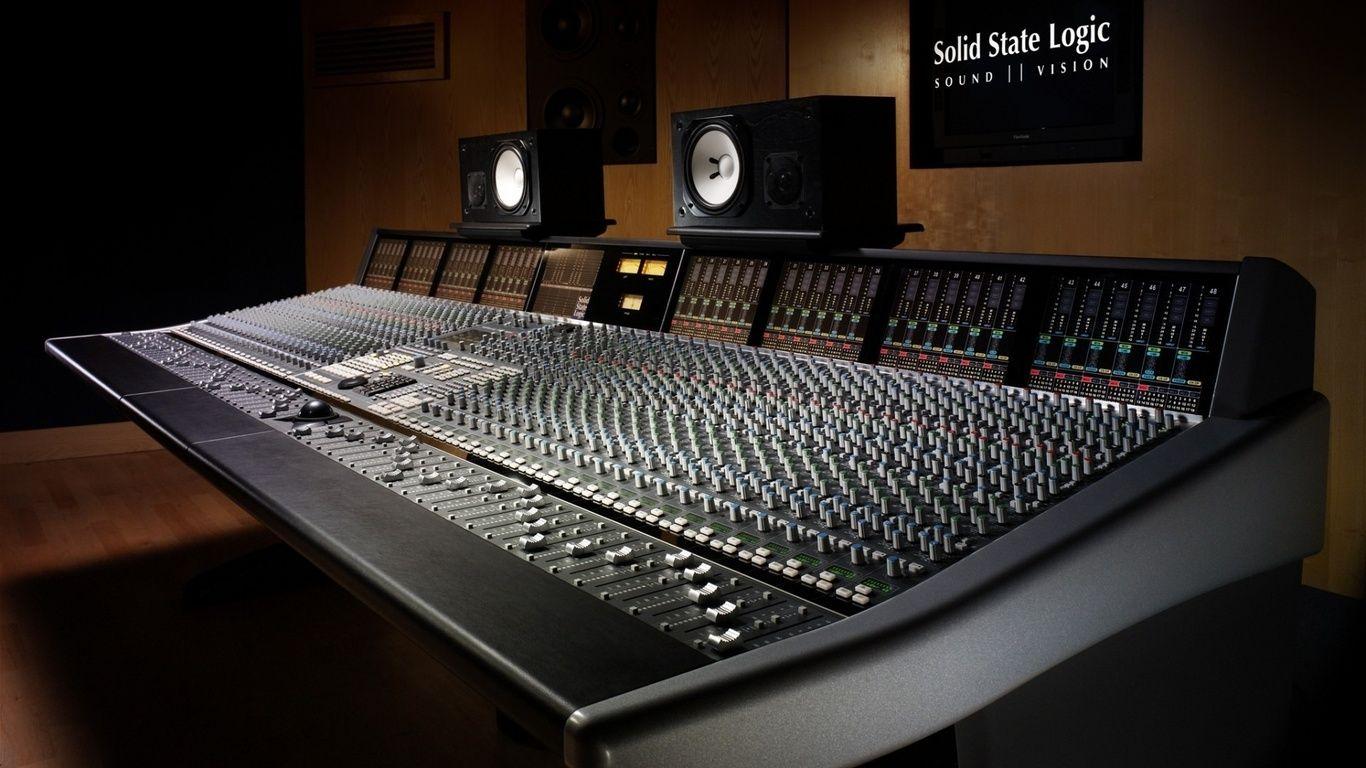 Recording Studio Wallpaper wallpapers recording studio musical 1366x768