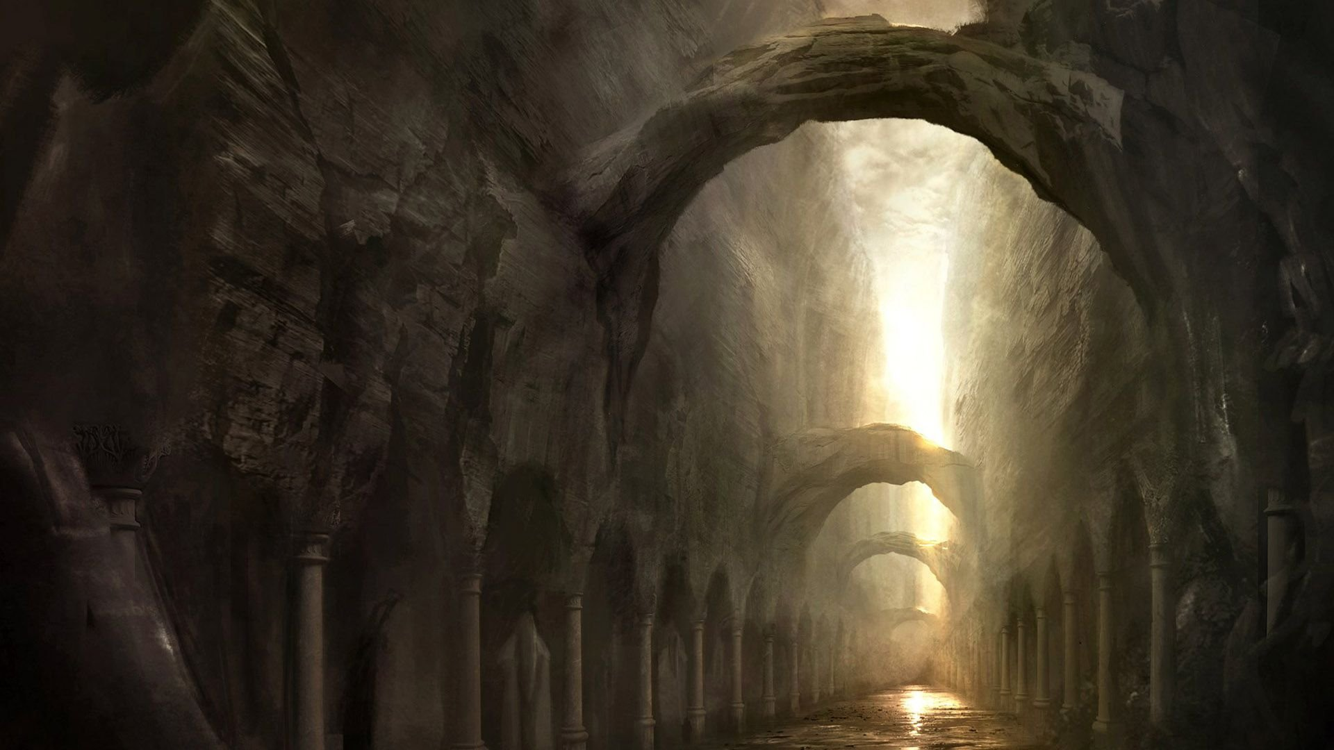 Gothic Dark Art 3D Fantasy Places HD picture nr 47795 1920x1080